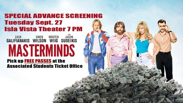 Special Advanced Screening: Masterminds