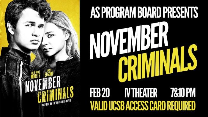 Free Tuesday Film: November Criminals!