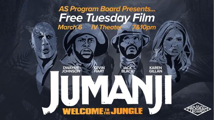 Free Tuesday Film: Jumanji: Welcome to the Jungle