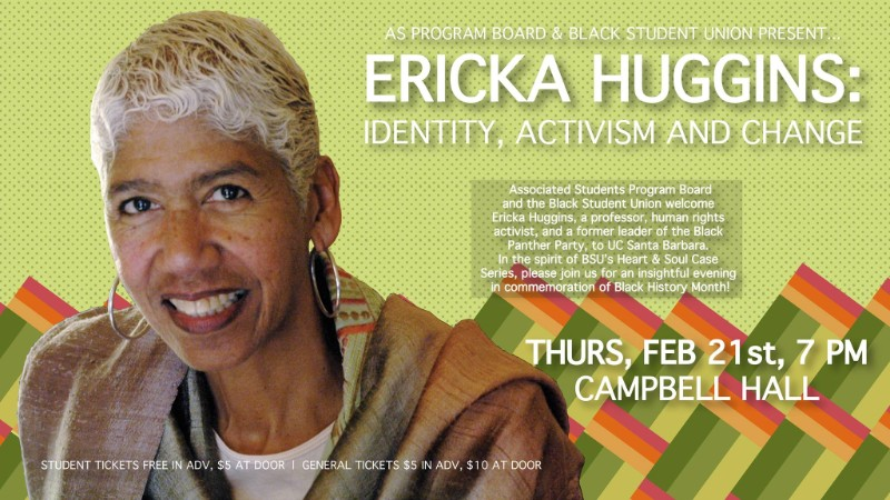 An Evening with Ericka Huggins: Identity, Activism and Change