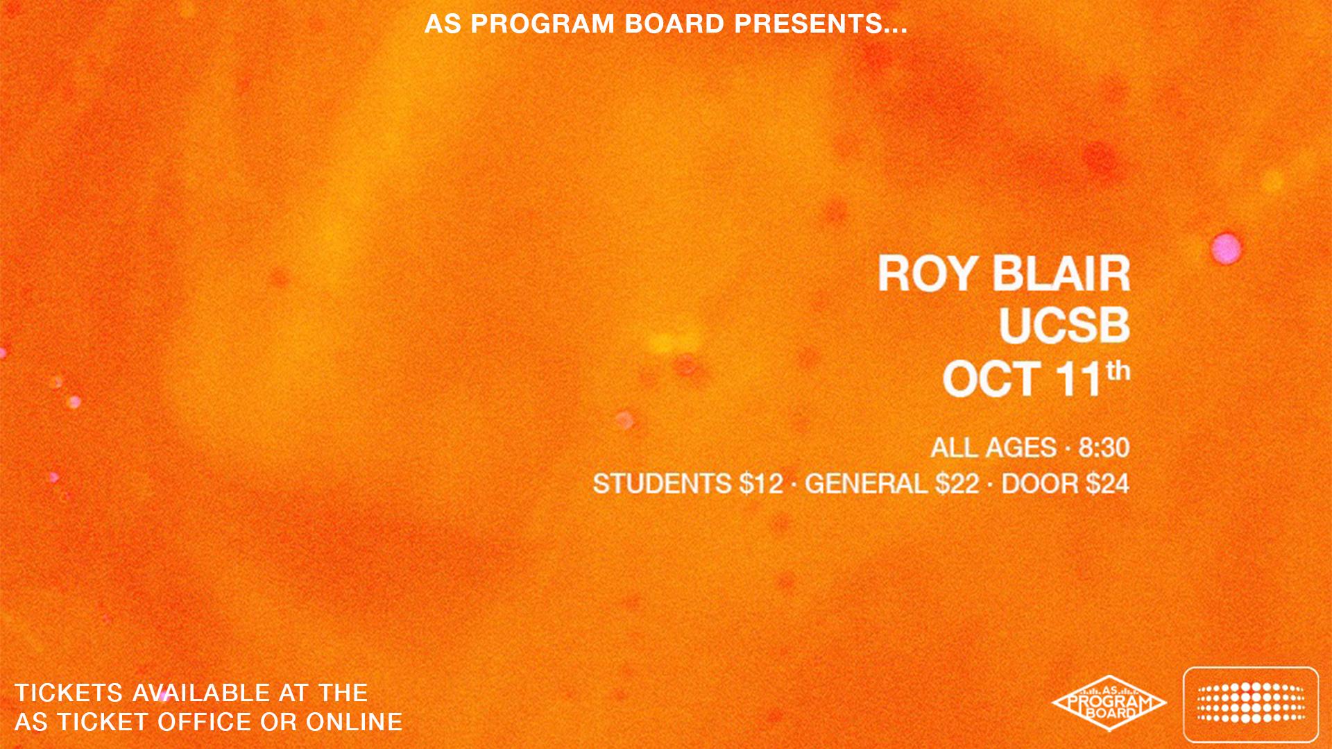 ROY BLAIR IN THE HUB 10/11