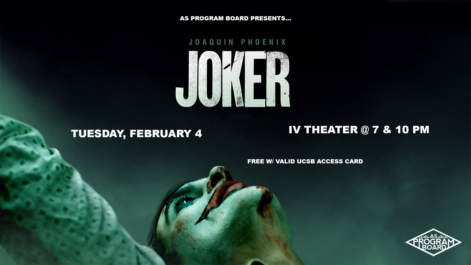 Free Film Tuesday at I.V. Theater: Joker (2/4)