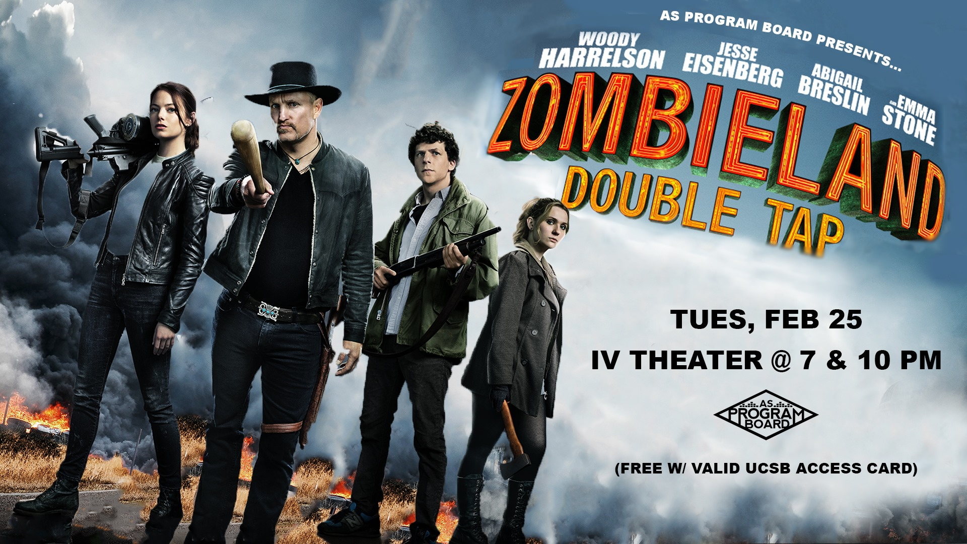 Free Tuesday Film: Zombieland Double Tap
