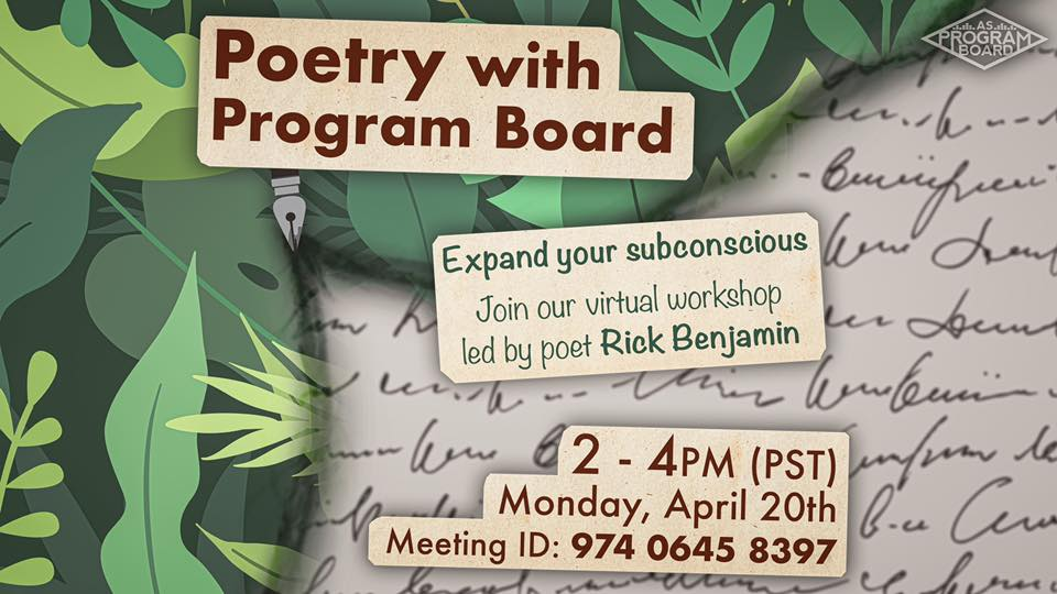 Poetry Workshop ft. Rick Benjamin